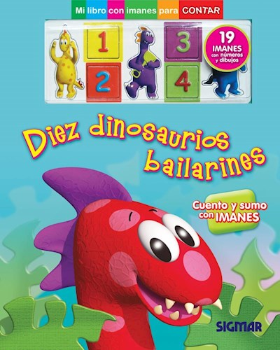 Papel Diez Dinosaurios Bailarines (Magnetos)