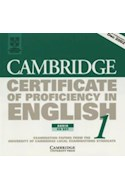 Papel CERTIFICATE OF PROFICIENCY IN ENGLISH 1 AUDIO CD SET
