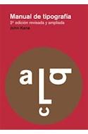Papel MANUAL DE TIPOGRAFIA [2 EDICION REVISADA Y AMPLIADA]