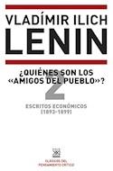 Papel QUIENES SON LOS AMIGOS DEL PUEBLO ESCRITOS ECONOMICOS 2 [1893 - 1899] (PENSAMIENTO CRITICO)