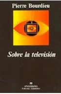 Papel SOBRE LA TELEVISION (COLECCION COMPACTOS 372)
