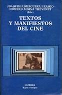 Papel TEXTOS Y MANIFIESTOS DEL CINE ESTETICA ESCUELAS MOVIMIENTOS DISCIPLINAS INNOVACIONES(SIGNO E IMAGEN)
