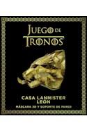 Papel JUEGO DE TRONOS CASA LANNISTER LEON (INCLUYE MASCARA 3D Y SOPORTE DE PARED)