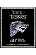 Papel JUEGO DE TRONOS CASA STARK LOBO HUARGO (INCLUYE MASCARA 3D Y SOPORTE DE PARED)