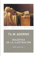 Papel DIALECTICA DE LA ILUSTRACION (OBRA COMPLETA 3) (COLECCION BASICA DE BOLSILLO 63)