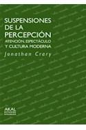 Papel SUSPENSIONES DE LA PERCEPCION ATENCION