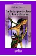 Papel INTERPRETACION DE LAS CULTURAS (COLECCION ANTROPOLOGIA)