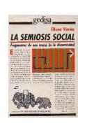 Papel SEMIOSIS SOCIAL (COLECCION EL MAMIFERO PARLANTE) (SERIE MAYOR)