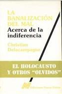 Papel BANALIZACION DEL MAL ACERCA DE LA INDIFERENCIA