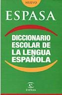 Papel DICCIONARIO ESPASA ESCOLAR DE LA LENGUA ESPAÑOLA