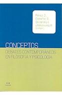 Papel CONCEPTOS DEBATES CONTEMPORANEOS EN FILOSOFIA Y PSICOLOGIA