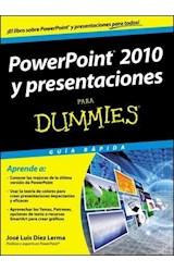 Papel POWERPOINT 2010 Y PRESENTACIONES PARA DUMMIES GUIA RAPIDA (RUSTICA)