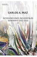 Papel INTERVENCIONES INCIDENTALES SEMINARIO 2012-2013 (1) (COLECCION TEXTOS DE AUTOR)