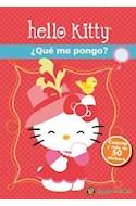 Papel HELLO KITTY QUE ME PONGO [CUENTO Y MAS DE 50 STICKERS] (MIS PERSONAJES FAVORITOS)