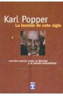 Papel KARL POPPER LA LECCION DE ESTE SIGLO