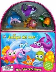 Papel Amigos Del Mar C/Figuritas Y Escenario Mini Diverti-Libros