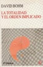 Papel Totalidad Y El Orden Implicado, La