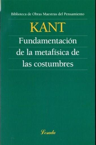Papel Fundamentacion De La Metafisica De Las Costumbres