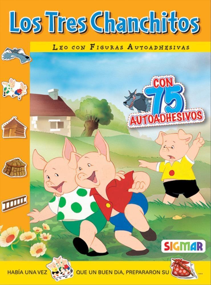 Papel Tres Chanchitos, Los (Leo Con Figuras Autoadhedivos)
