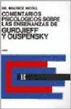Papel Comentarios Psicologicos Sobre Las Enseñanzas De Gurdjieff Y Ouspensky. Tomo 2