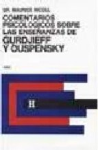 Papel Comentarios Psicologicos Sobre Las Enseñanzas De Gurdjieff Y Ouspensky. Tomo 4