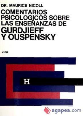Papel Comentarios Psicologicos Sobre Las Enseñanzas De Gurdjieff Y Ouspensky. Tomo 5
