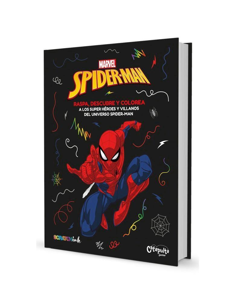 Papel Spiderman Raspa, Descubre Y Colorea