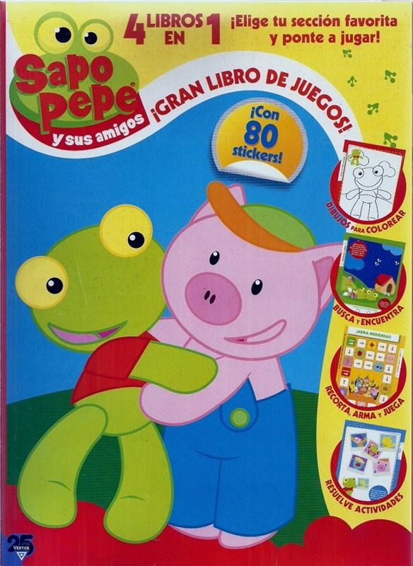 Papel Sapo Pepe Y Sus Amigos - Gran Libro De Juegos