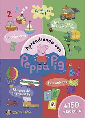 Papel Aprendiendo Con Peppa Pig  Los Numeros Medios De Transpote L