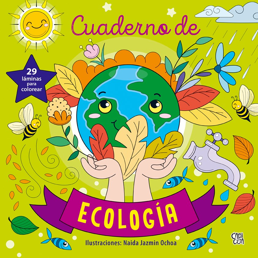 Papel Cuaderno De Ecologia  29 Laminas Para Colorear