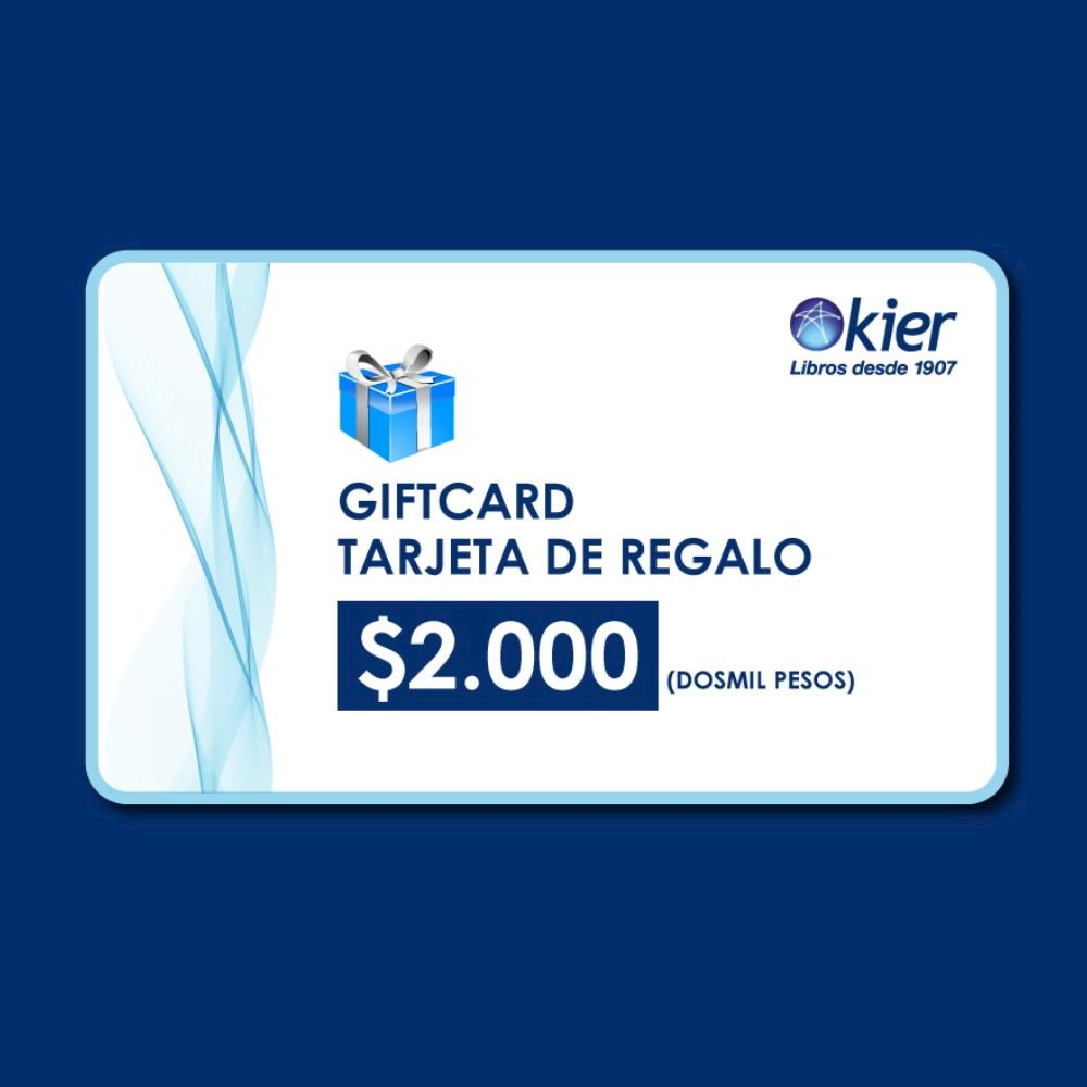 Papel Gift Card 2000