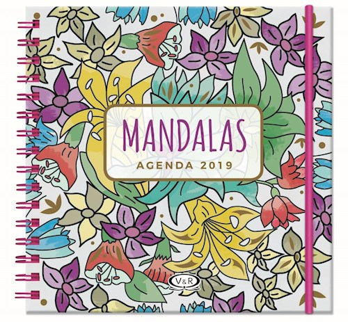 Papel Agenda Mandalas 2019 -  Violeta