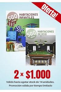 """Papel Pack 2 Libros: Ideas Creativas """"Habitaciones"""""""
