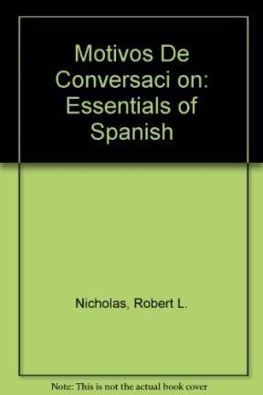 Papel MOTIVOS DE CONVERSACION ESSENTIALS OF SPANISH (2 EDICIO  N)