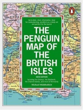 Papel The Penguin Map Of The British Isles