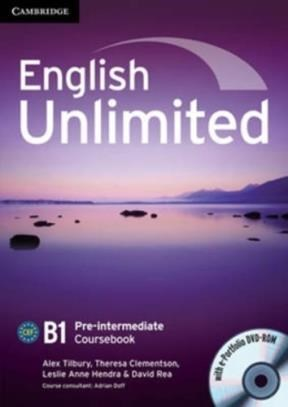 Papel English Unlimited B1 Pre-Intermediate Coursebook With E-Portfolio