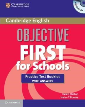 Papel Objective First For Schools Practice Test Booklet With Answers And Audio Cd