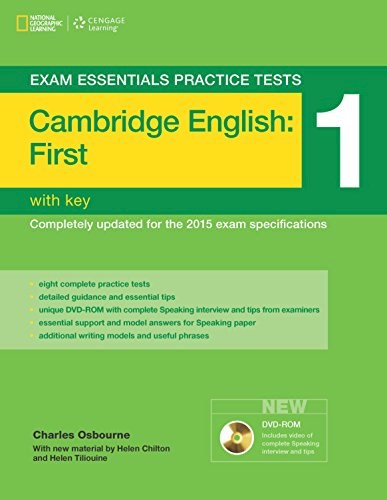 Papel Cambridge English: First (Fce) 1 - Exam Essentials Practice Tests With Key