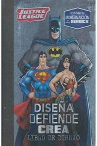 Papel Liga De La Justicia - Diseña Defiende Crea - Libro De Dibujo