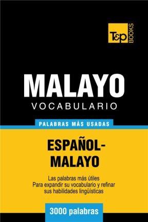 E-book Vocabulario Español-Malayo - 3000 Palabras Más Usadas