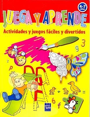 Papel JUEGA Y APRENDE 4-7 AÑOS [AMARILLO] ACTIVIDADES Y JUEGO