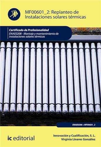 E-book Replanteo De Instalaciones Solares Térmicas. Enae0208