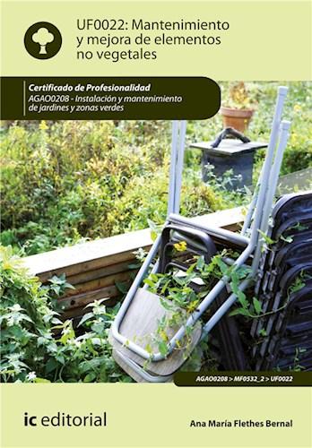 E-book Mantenimiento Y Mejora De Elementos No Vegetales. Agao0208
