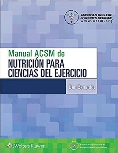 Papel Manual ACSM de nutrición para ciencias del ejercicio