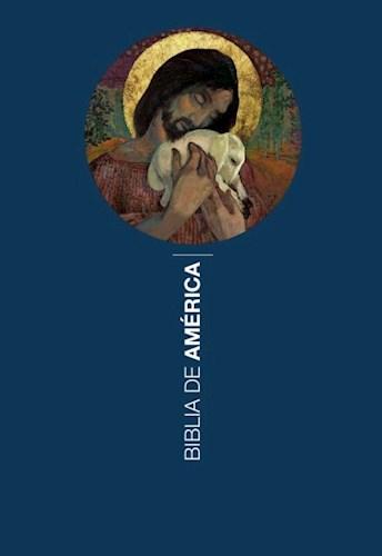 Libro Biblia De America Rustica Buen Pastoral Azul [ Rustica ]