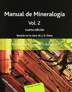 Libro Manual De Mineralogia ( Volumen 2 )