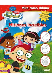 Papel Misiones Increibles / Little Einsteins-  Mira Como Dibujo (Dos Libros Y Pegatinas)