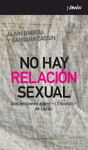 Libro No Hay Relacion Sexual