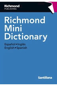 Papel Diccionario Inglés Español Richmond Mini