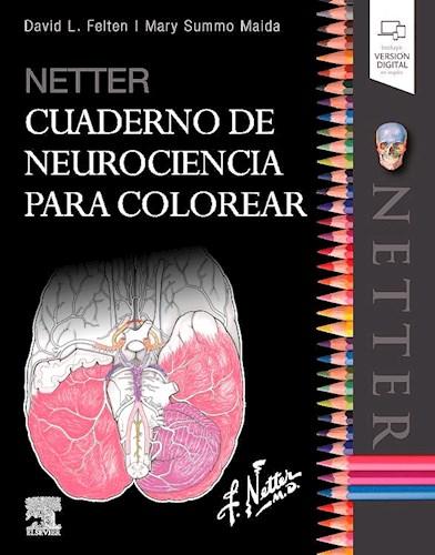Papel Netter Cuaderno de Neurociencia para Colorea